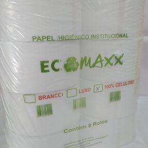 Papel higiênico Ecomaxx 250 metros - pacote com 8 rolos