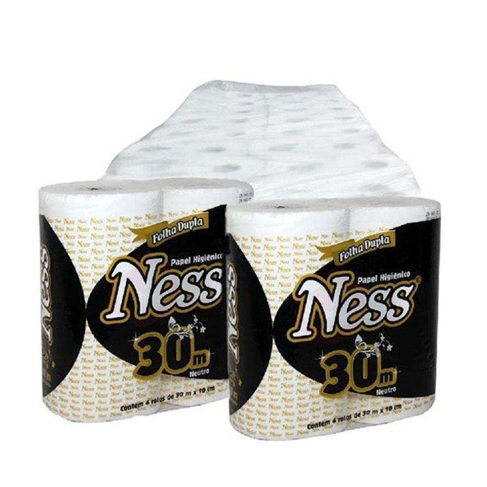 Papel higiênico Ness Folha Dupla - fardo com 64 unidades