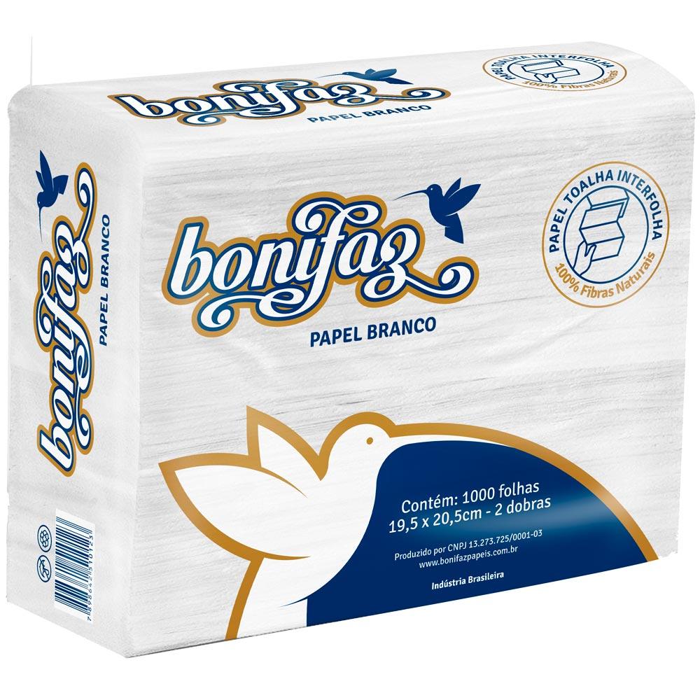 Papel Interfolha Branco Bonifaz