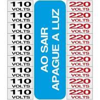 Placa de Alumínio Etiquetas de Voltagem 110V e 220V Sinalize