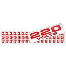 Placa de Alumínio Etiquetas de Voltagem 220V PT 16 UN Sinalize