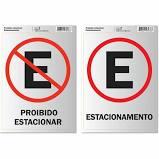 Placa de Sinalização Estacionamento e Proibido Estacionar 2 UN Pimaco