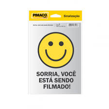 Placa para sinalização 14x19 - sorria 891745 - Pimaco PT 2 UN