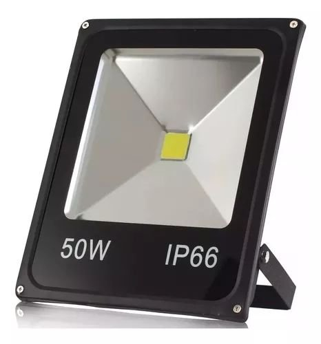 Projetor Led Slim 50W Bivolt Luz Branca 4000 Lúmens