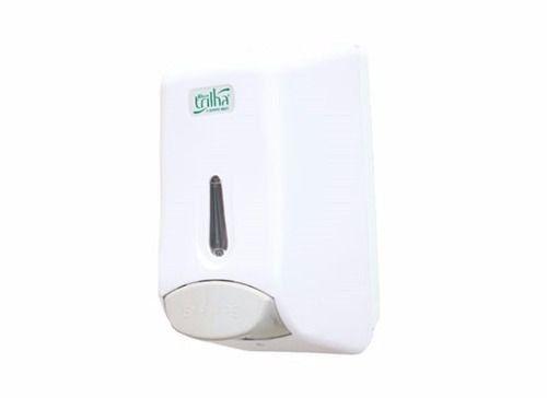 Saboneteira Branca para Refil de Sabonete Líquido ou Refil de Álcool em Gel - Trilha