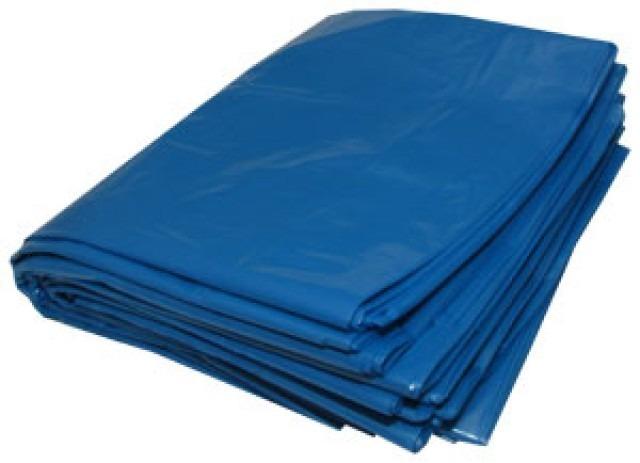 Kit 10 Pacotes De Saco para lixo reforçado azul - 100 litros -pacote com 100 unidades