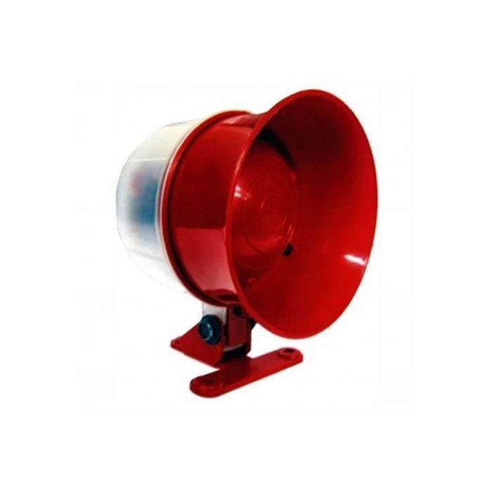 Sirene Luz Vermelha Piscante Especial para Incêndio 24V 105dB