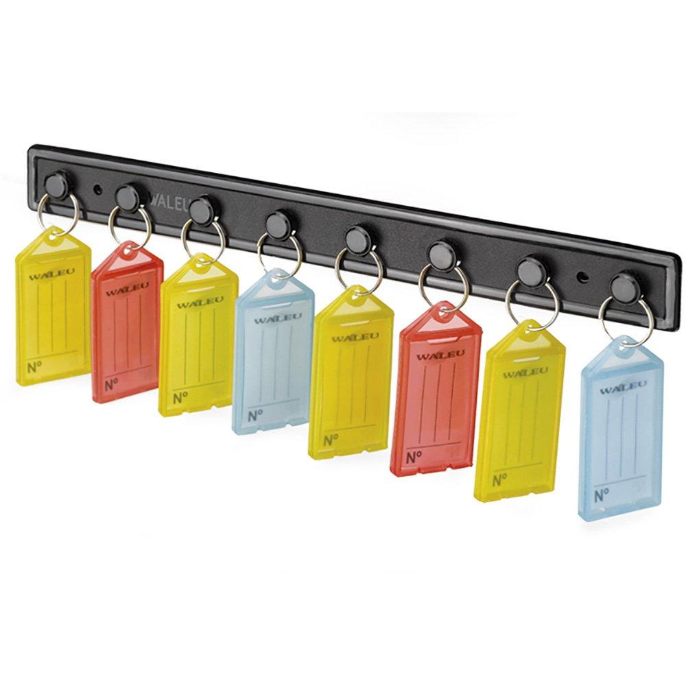 Suporte Organizador de chaves c/ 8 chaveiros sortidos Waleu BT 1 UN