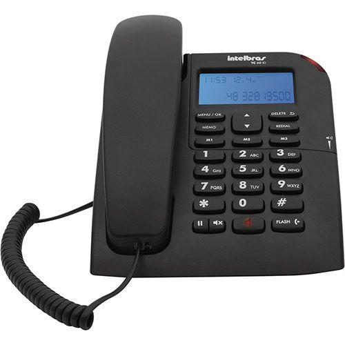 Telefone com fio TC 60ID - com identificador de chamada e viva voz - Intelbras