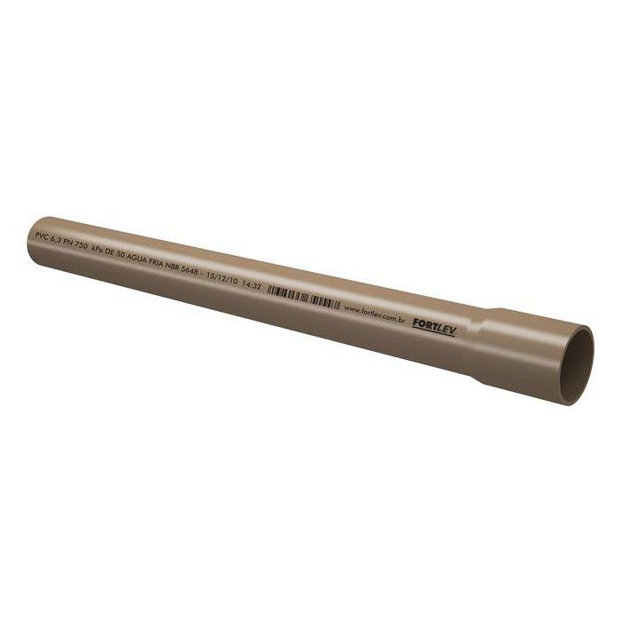 Tubo Soldável Água Fria PVC 3m 25mm Fortlev