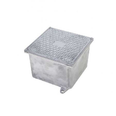 Caixa de Passagem de Piso 30x30x11cm em Alumínio