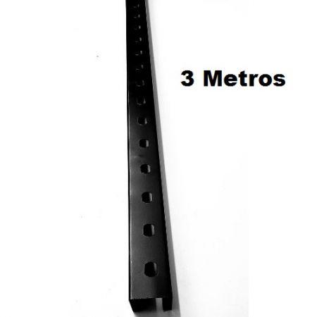 Perfilado 38x38mm x 3mts Preto