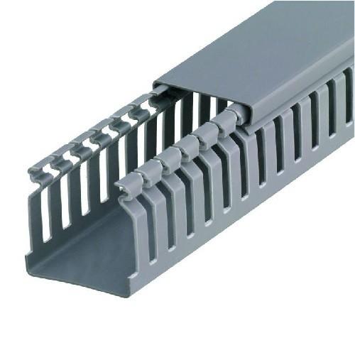 Canaleta Industrial com Recorte 50x50mm Cinza