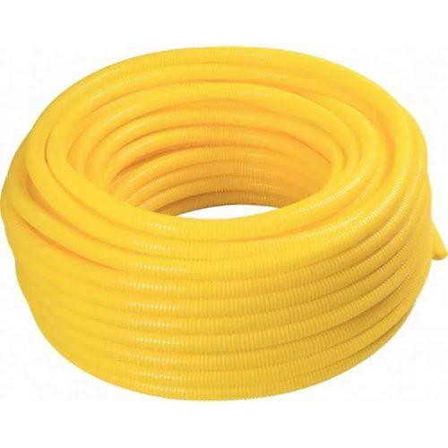 """Eletroduto Corrugado 1/2"""" Amarelo Rolo 50mts Amanco"""