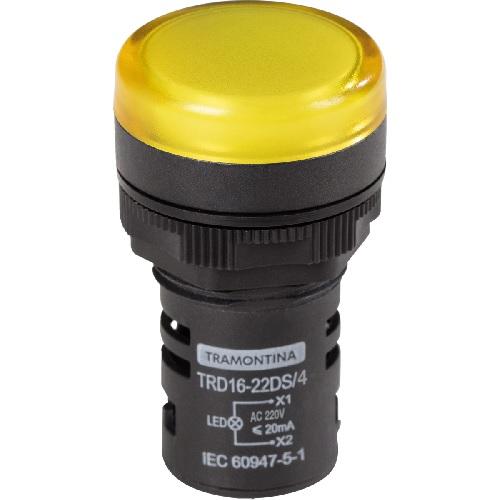 Sinaleiro Led 22mm Amarelo 220v Tramontina