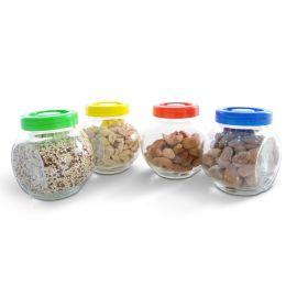 Conjunto Pote Condimento Vidro Colorido