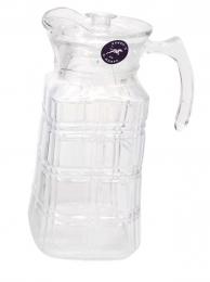 Jarra de vidro paris 1,5 litros c/ tampa plástica