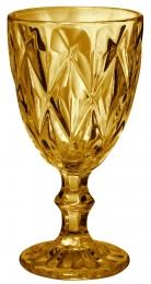 Jogo De Copa Taça De Vidro 6 Unidades 320ml Amarelo