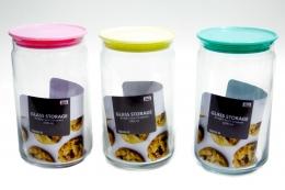 Kit 6 Potes de Vidro Canary 1000ml Porta Mantimentos