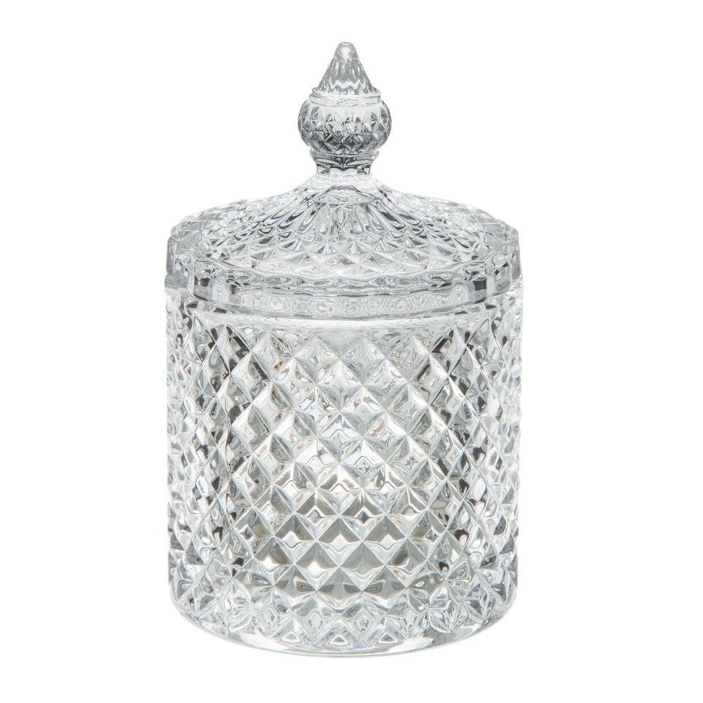 Bomboniere de vidro grosso Bico de Jaca Baleiro decorativo