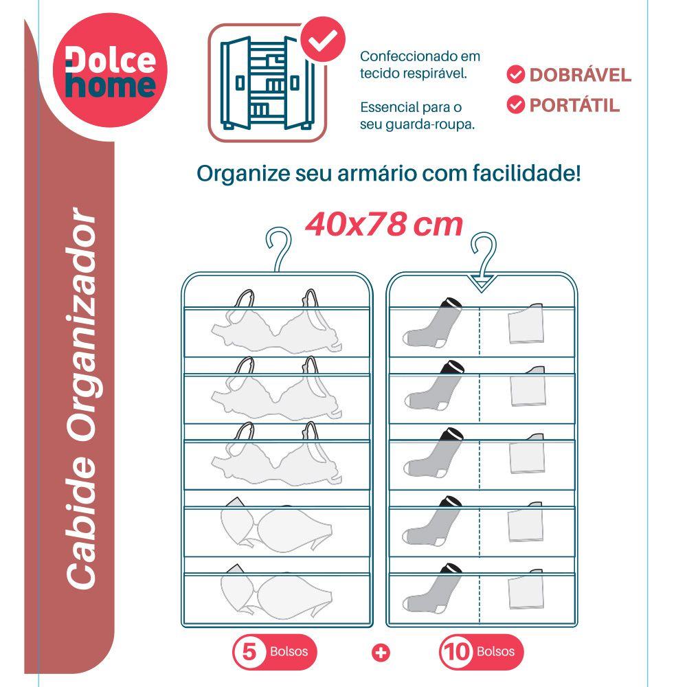 Cabide Organizador com 15 Divisórias