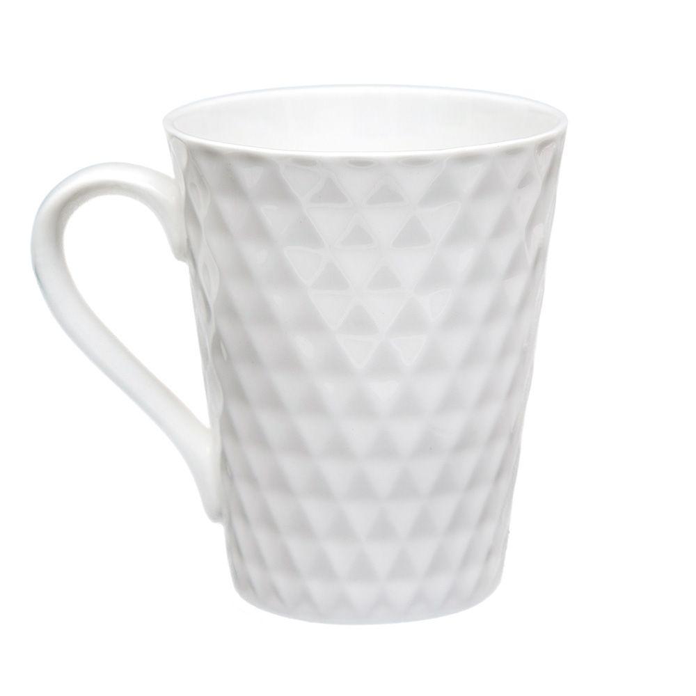 Caneca Texturizada Kirks 340Ml Porcelana Branco na Caixa