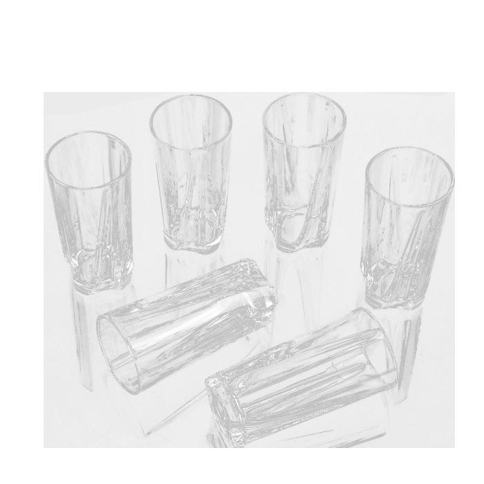 Conjunto 6 Copos Vidro casa  água, sucos, refrigerantes