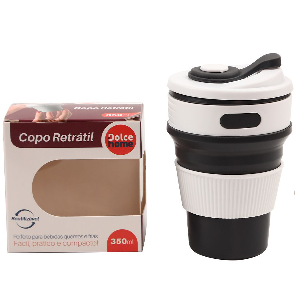Copo Retratil De Silicone 350Ml