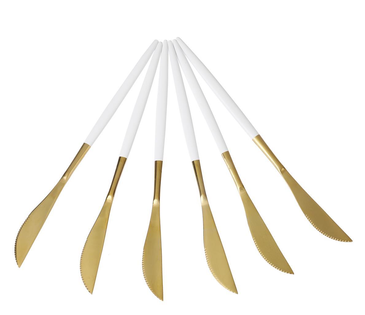 Faca Lux Branco 6 peças