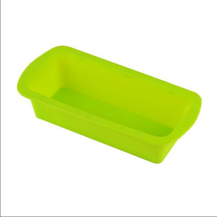 Forma de Bolo retangular de silicone antiaderente Pão e Bolo