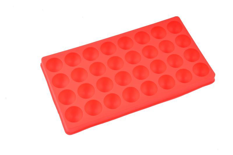 Forma de Gelo de Silicone 32 Cubos Bolinha