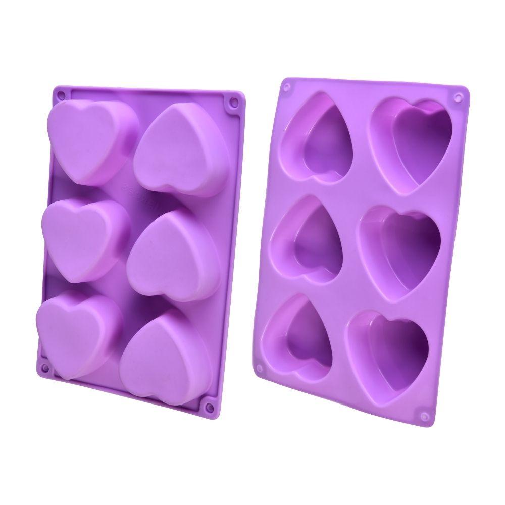 Forma de Silicone pra Mini Bolo Coração cupcake Confeitaria