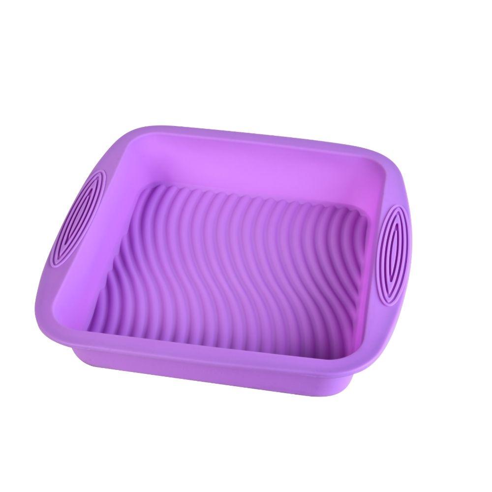 Forma De Silicone Quadrada Antiaderente Bolo Torta Cozinha