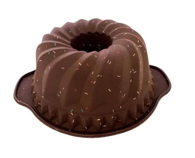 Forma em Silicone Redonda Ondulada Pudim 24cm Candy