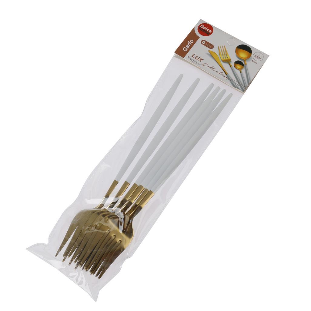 Garfo Lux Branco 6 peças