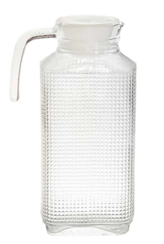Jarra De Vidro Madri 1 Litro Com Tampa Agua Suco