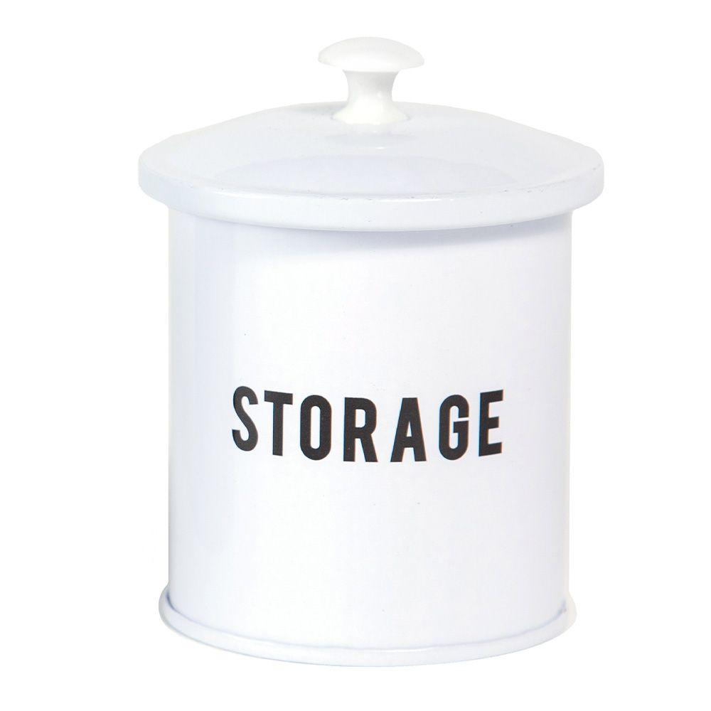 Lata Mini Storage Branca e Preta