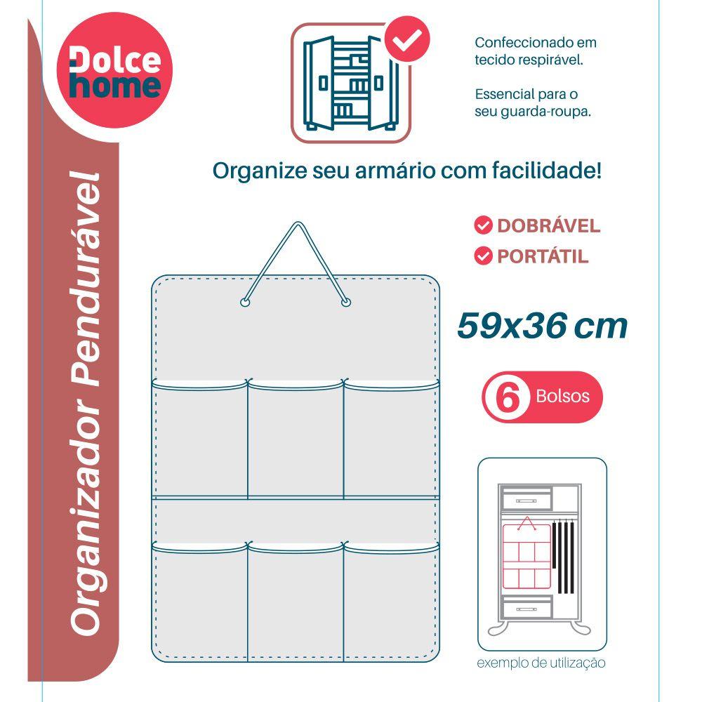 Organizador Pendurável com 6 Divisórias