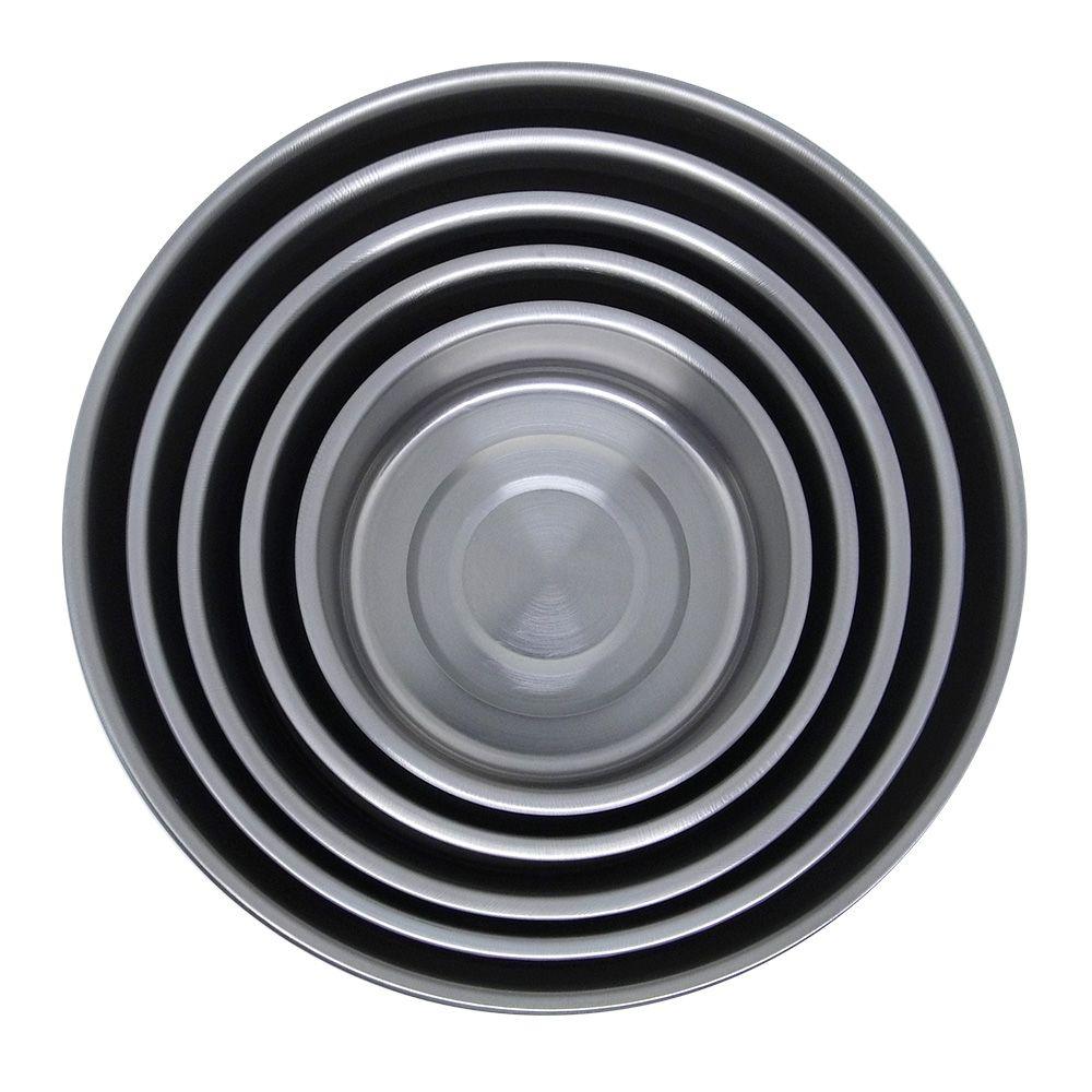 Pote De Inox com Tampa Plástica. 5 Peças