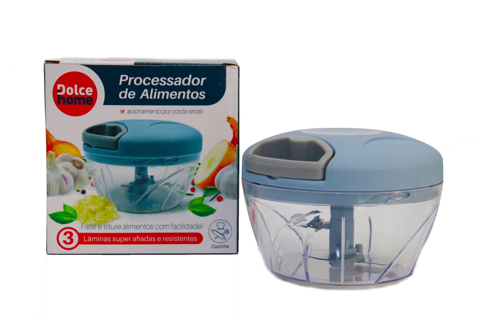 Processador de Alimentos manual 3 lâminas triturar pratico