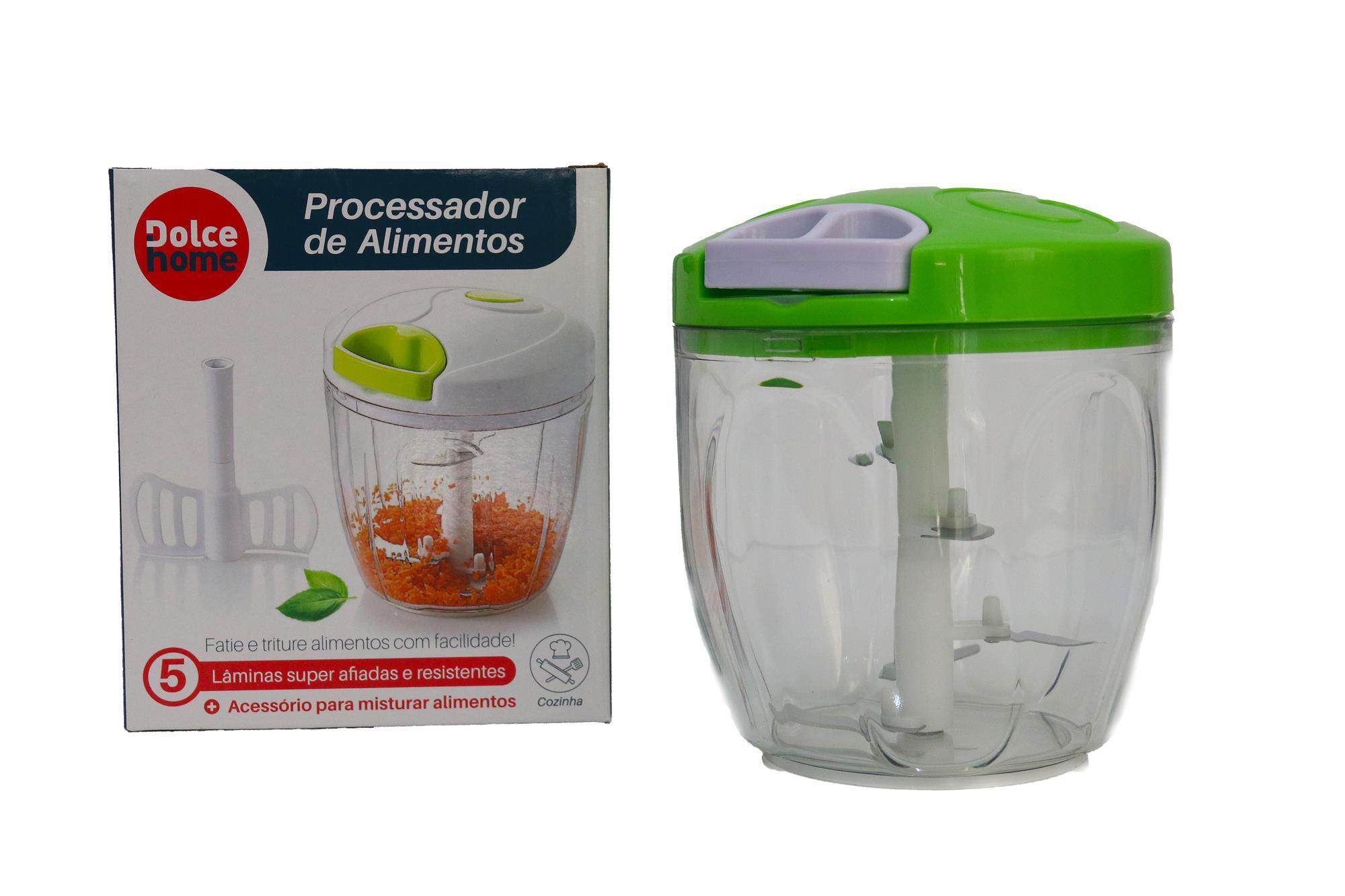 Processador de Alimentos  manual 5 lâminas triturar pratico