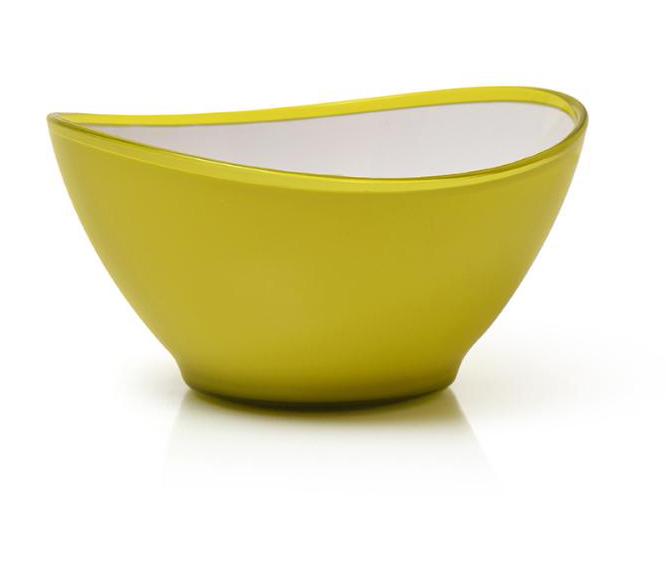Saladeira Decorativa De Mesa Em Acrilico Amarela