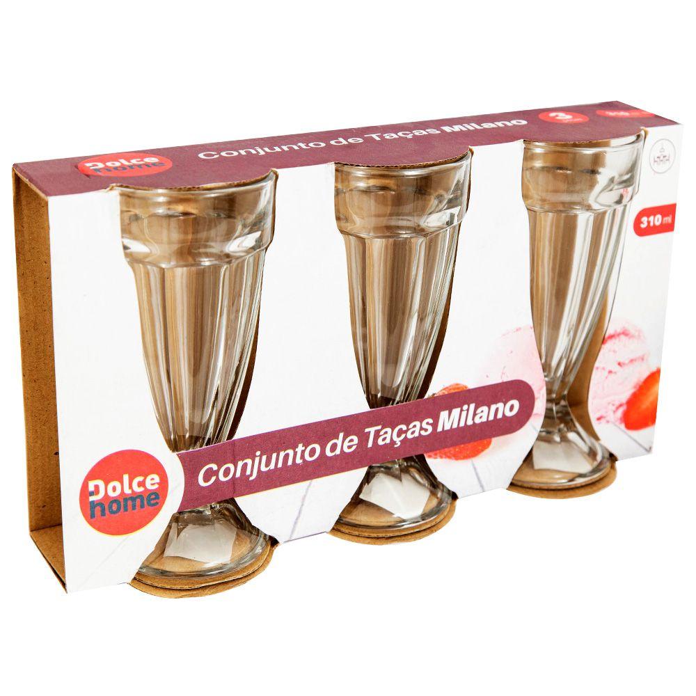 Taça Milano Milk Shake 3 Peças - 310Ml