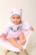 Body de bebê Gatinha Marie com touca