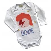 Body de bebê infantil Curtindo Rock baby Bowie