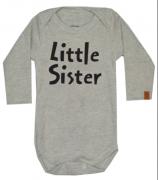 Body de bebe infantil Little  Sister / Irmanzinha