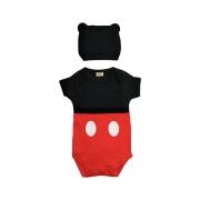 Body de Bebe infantil Mickey com touca mesversario