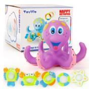 Brinquedo infantil para bebê banho Polvo com acessorios