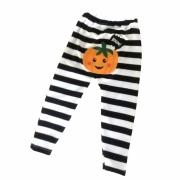 Calça de bebê listrada Abobora Halloween
