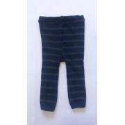Calça de lã infantil bebê leãozinho estilo meia calça Azul